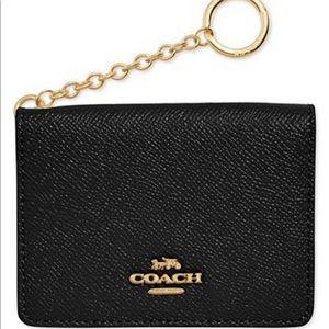 Coach card case key ring
